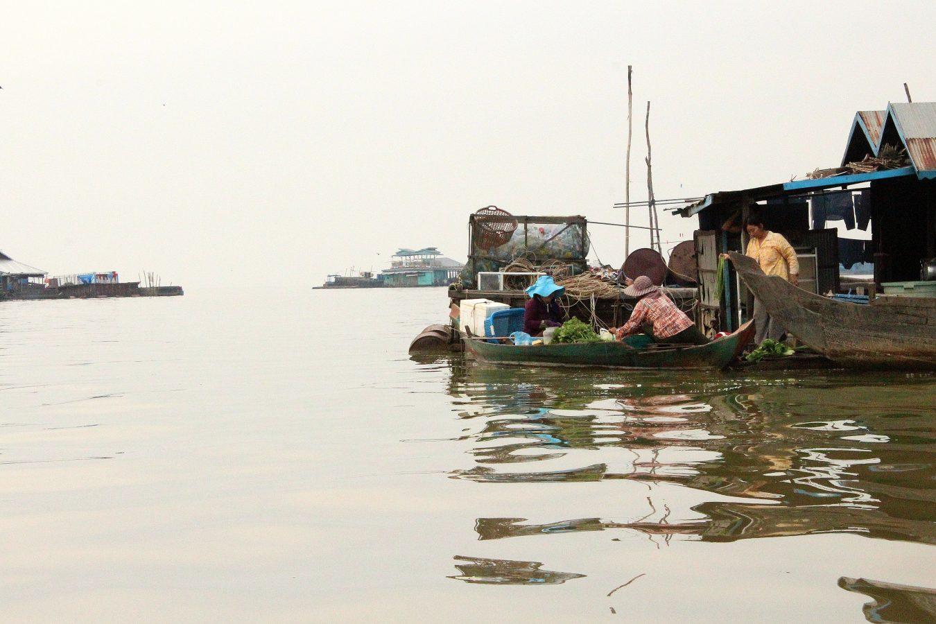 Speedboat on lake Tonle Sap