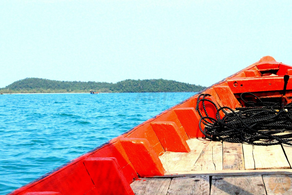 Preparing to land at Koh Rong Island