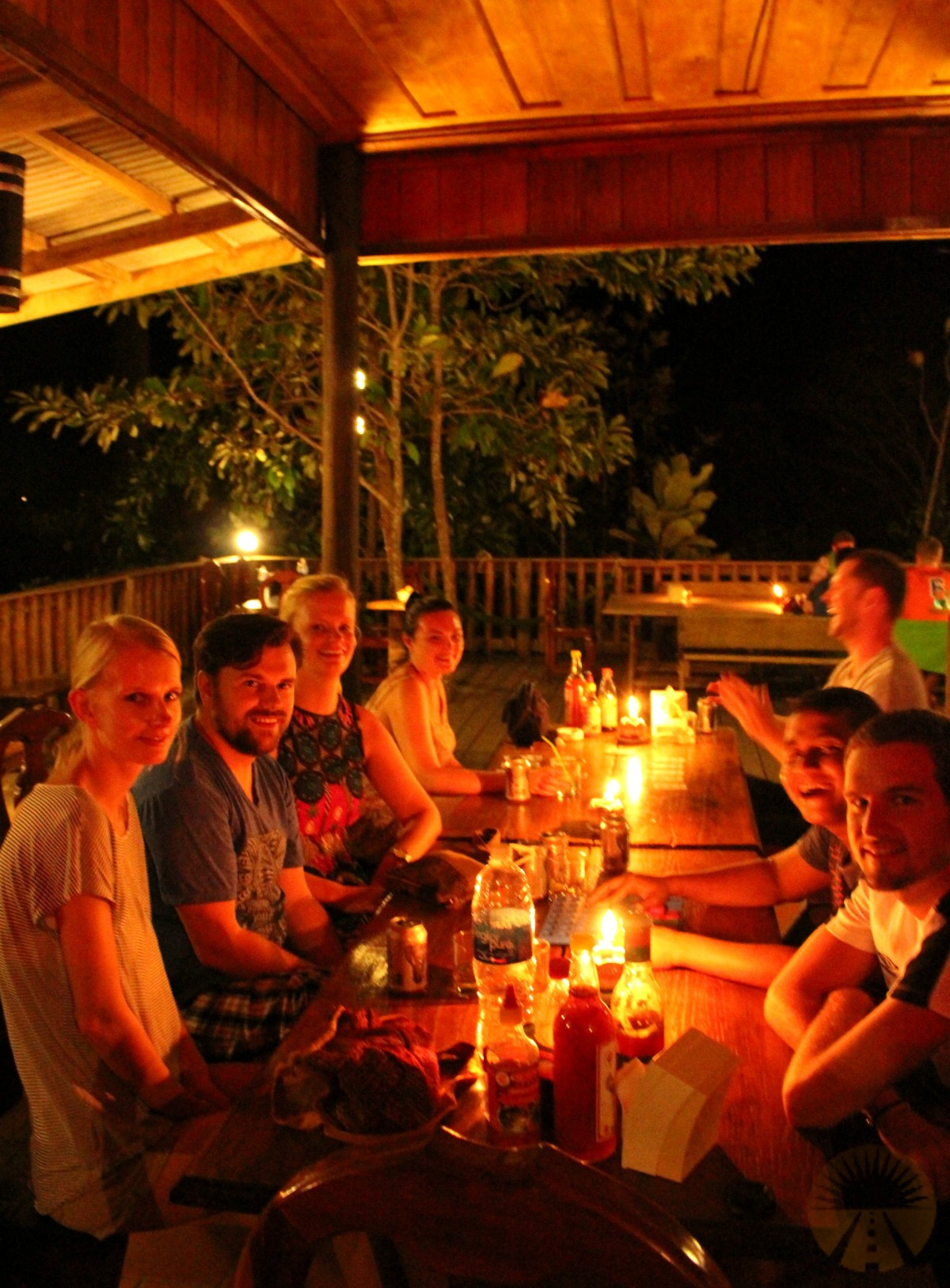Hanging out with everybody at Coconut Beach - Koh Rong