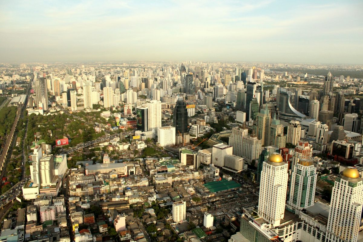 The view from the top of Baiyoke Tower