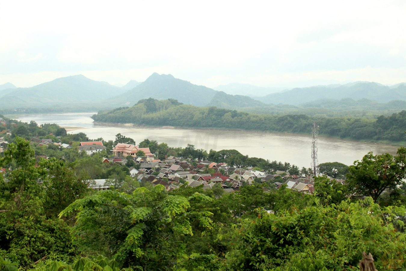 Mekong river from Phusi hilll