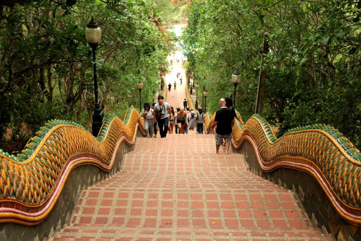 Stairs to Wat Phra That Doi Suthep