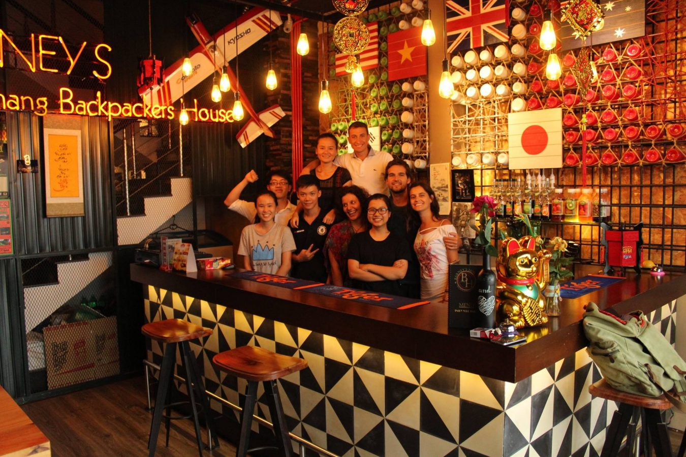 Bar area and staff