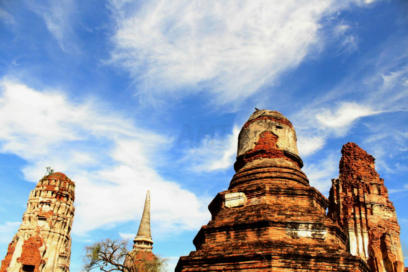 Wat Phra Mahathat reaching the sky