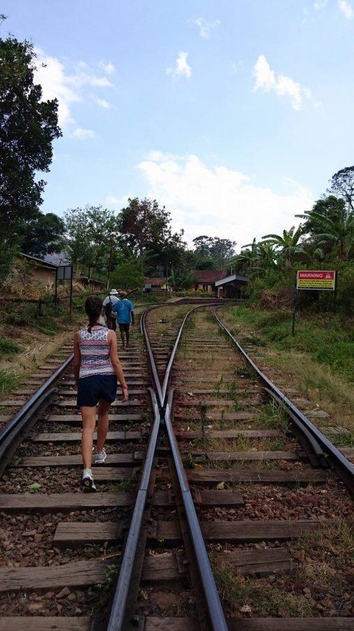 Walking on railway, Ella, Sri Lanka