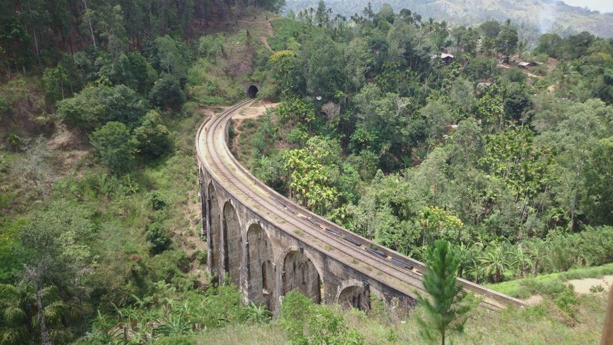 9 Arches Bridge, view from above, Ella, Sri Lanka