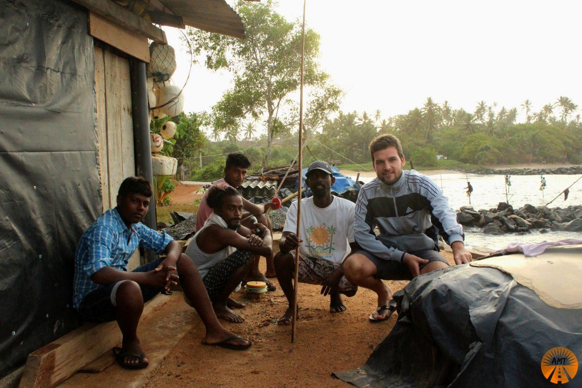 With the awesome stilt fishermen, Sri Lanka