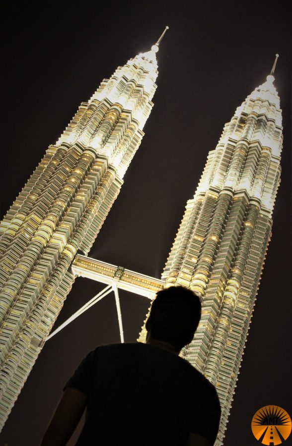 Petronas Towers by night, Kuala Lumpur Malaysia