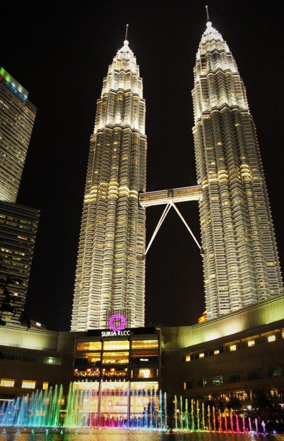 Fountain show at KLCC, Kuala Lumpur, Malaysia