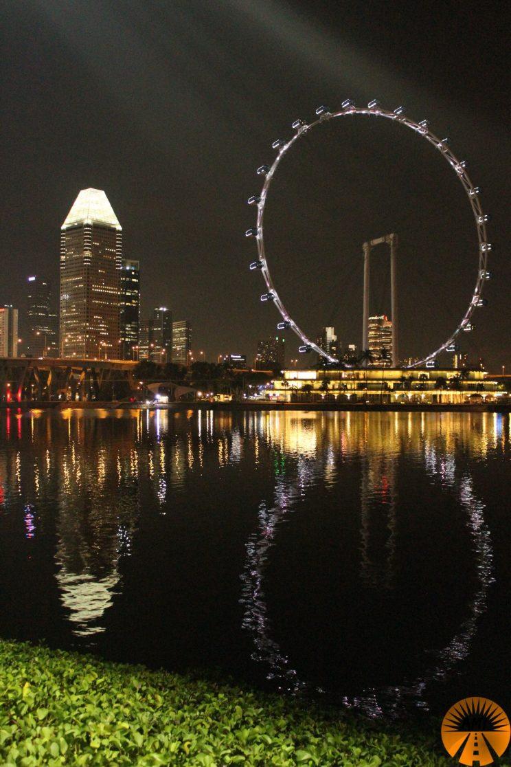 View on the ferris wheel, Singapore