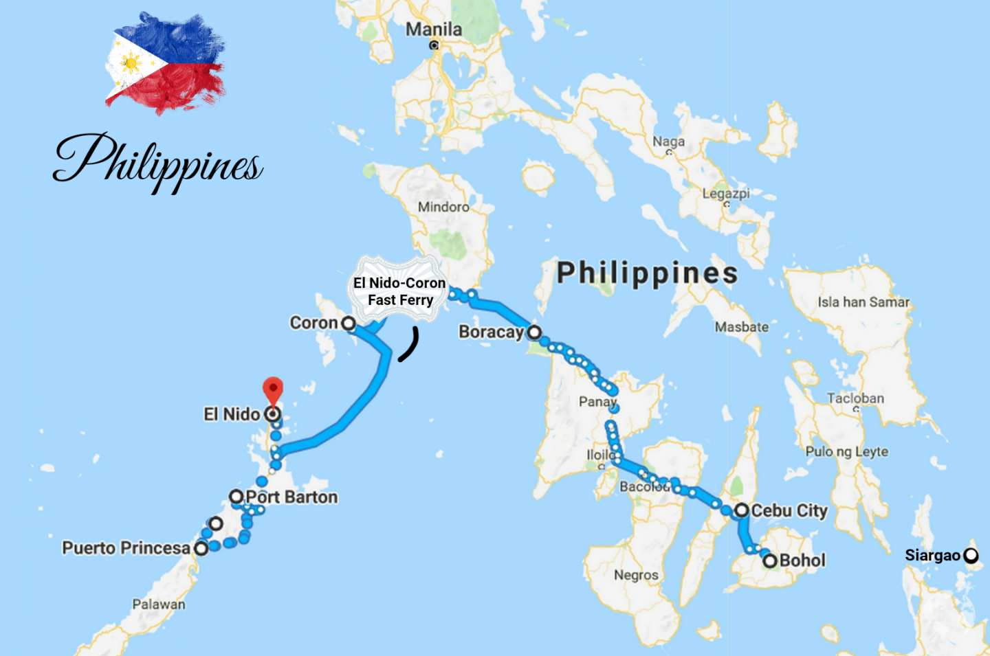 philippines itinerary islands