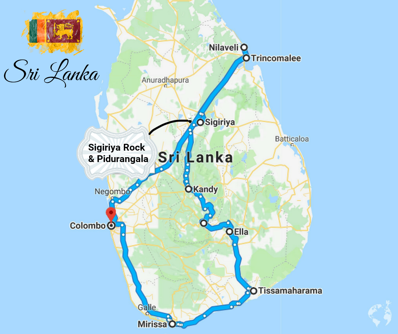 sri lanka itinerary what to see