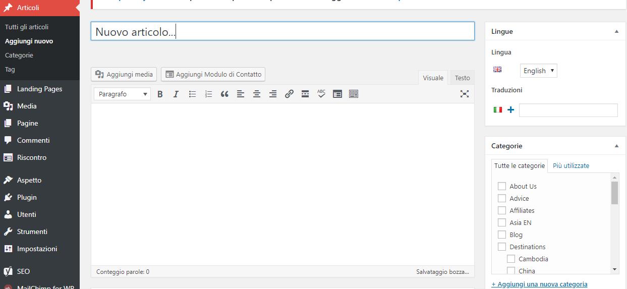come scrivere articoli wordpress blog