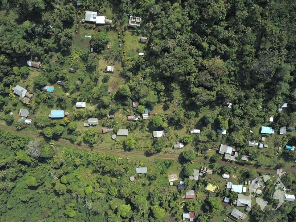 Nguna village drone view Vanuatu