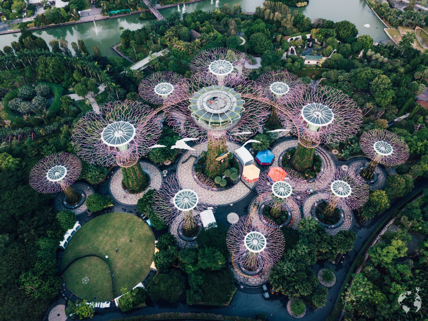 gardens by the bay foto drone