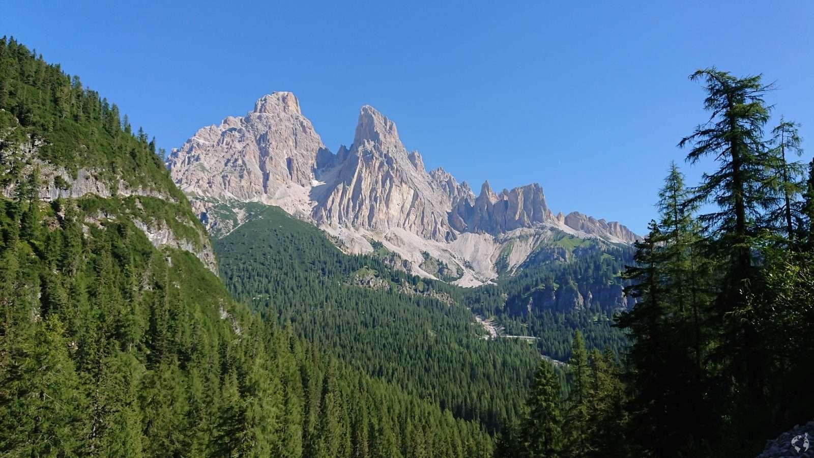 Cristallo mountain Dolomites