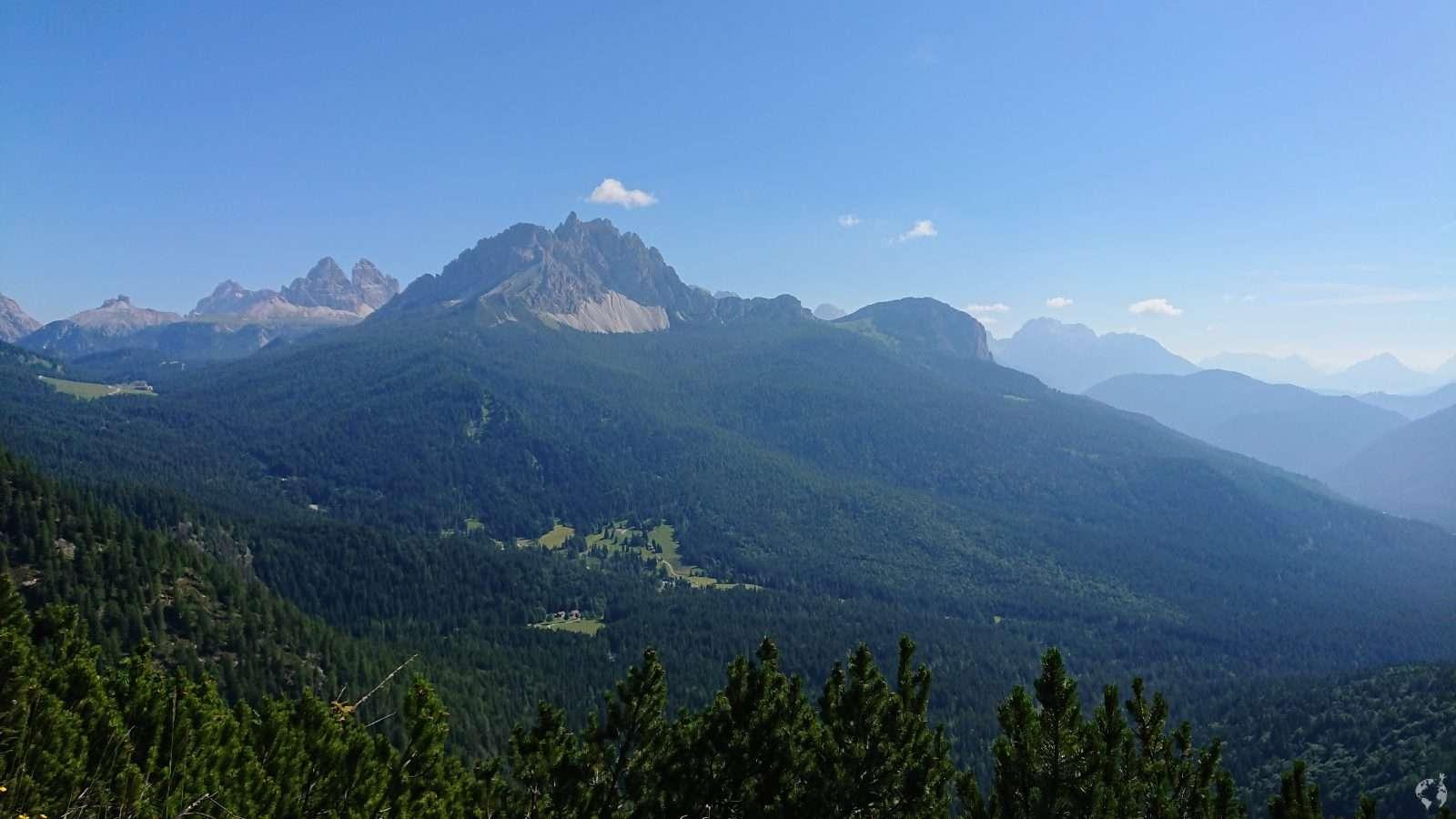 trail 215 view on Misurina and Three Peaks of LAvaredo