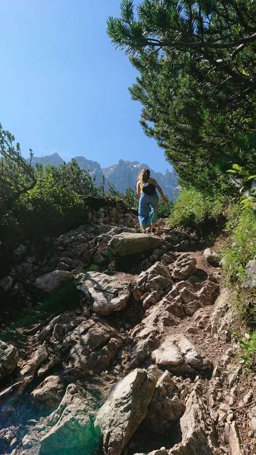 sentiero per il lago sorapis