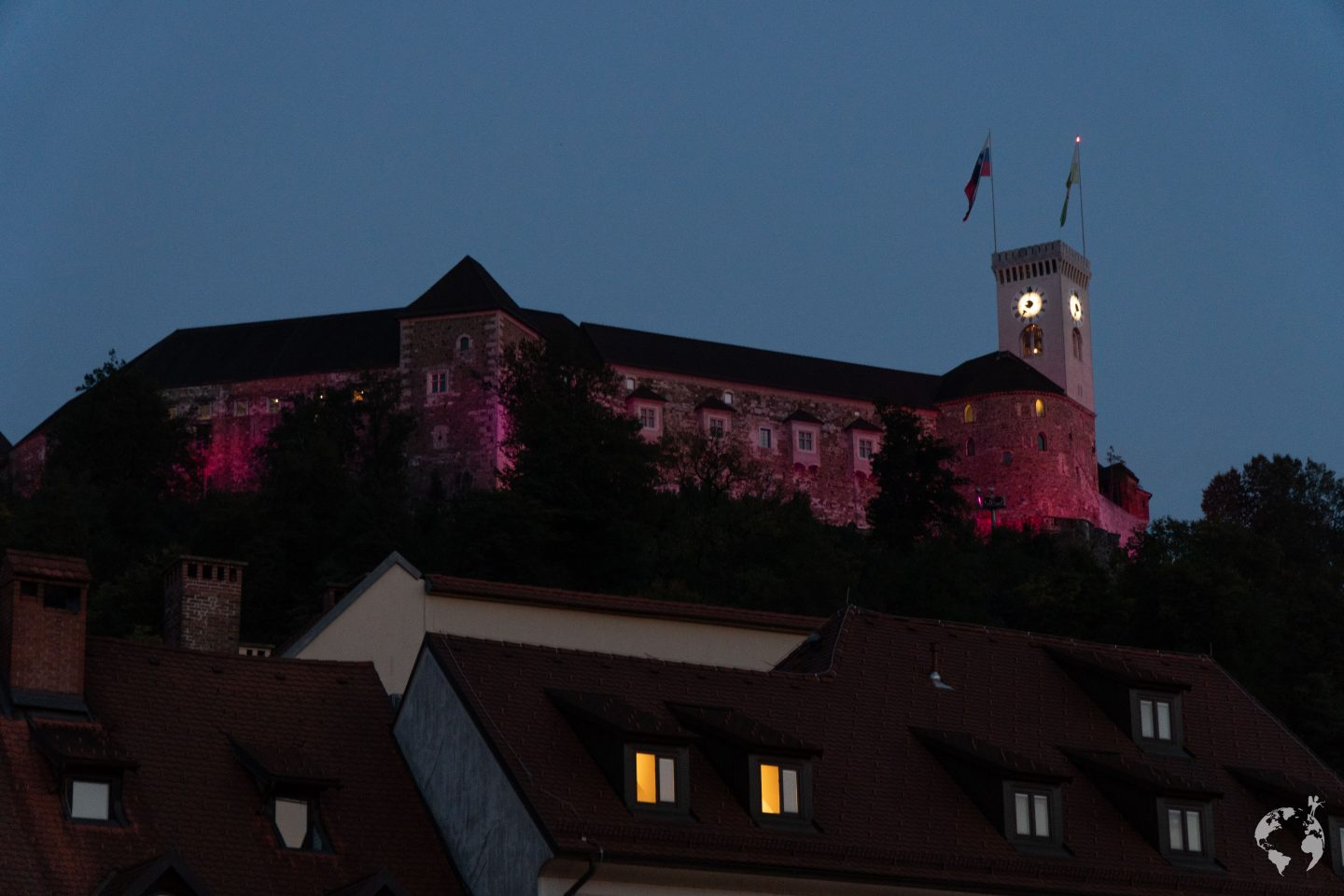 Ljubljana castle view night