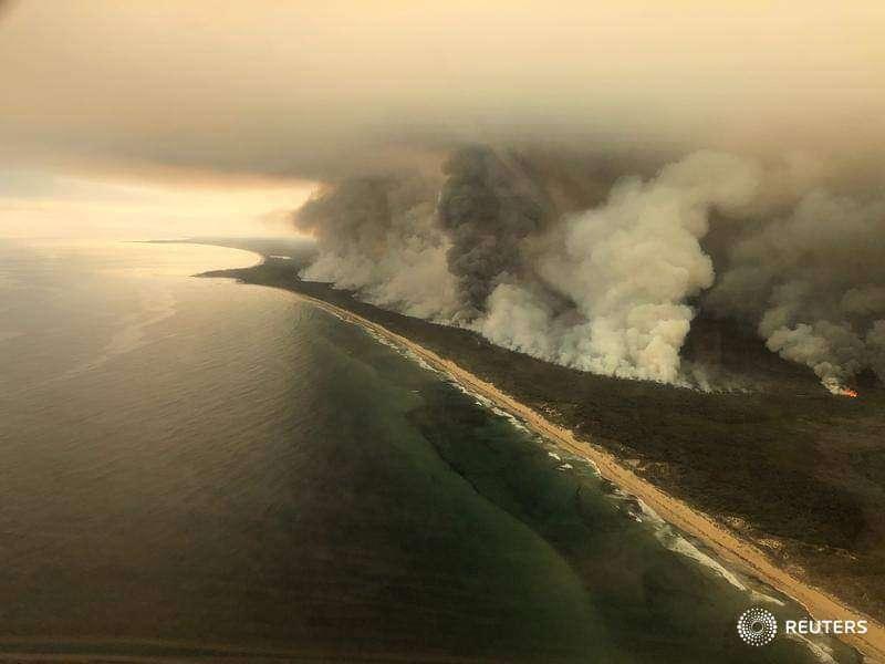 zone incendi australia