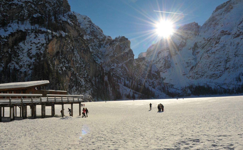 Il Lago di Braies in inverno