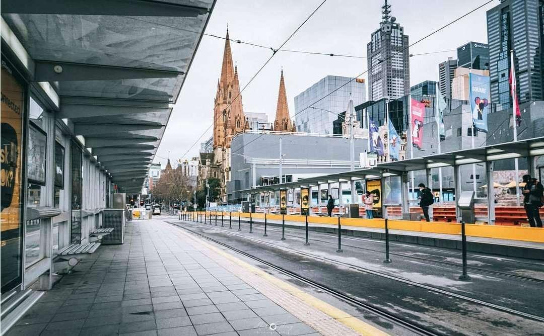 Melbourne empty CBD lockdown