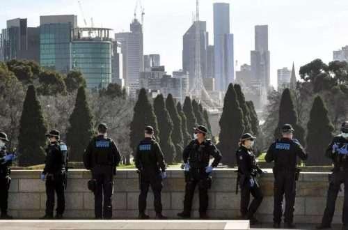 Polizia australiana melbourne @William West, AFP
