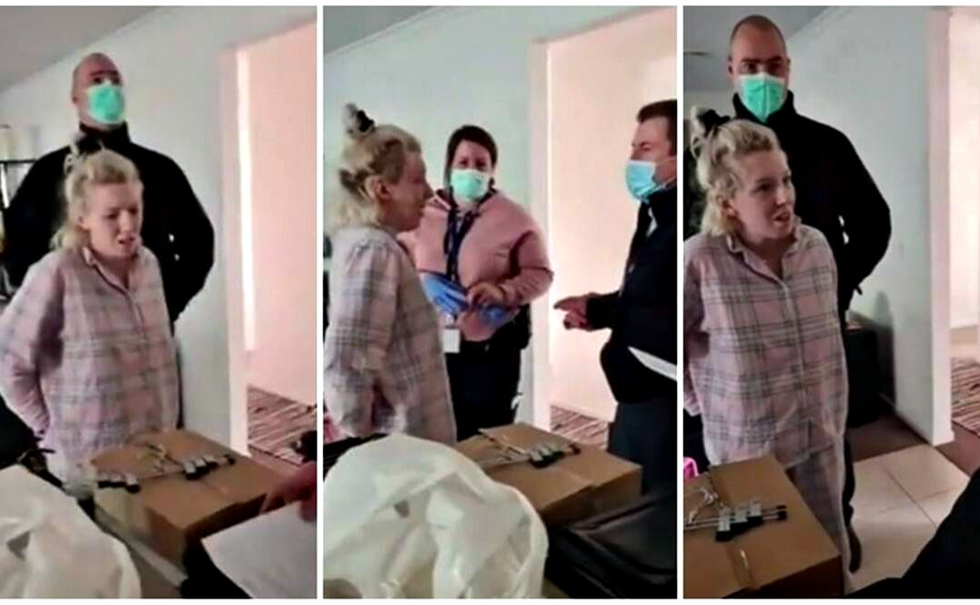 polizia australiana arresta donna incinta Victoria